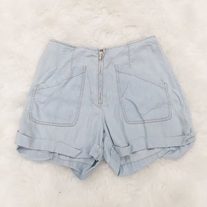 Guess light blue high waisted shorts sz 26
